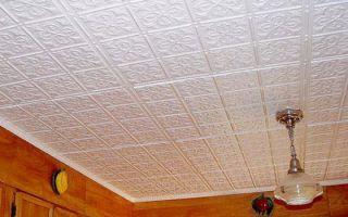 Плитка для потолка из пенопласта — правильная покраска потолочной плитки