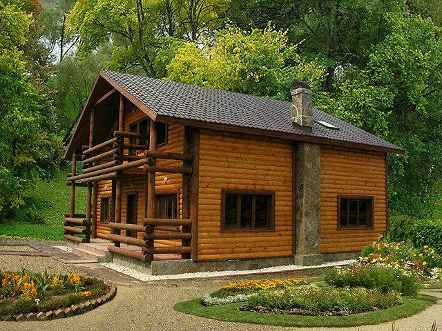 Здоровый деревянный дом