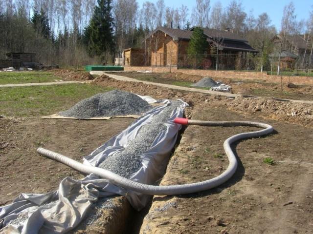 Отвести воду с участка