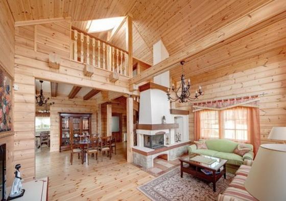 Отделка деревянного дома внутри - интерьеры деревянных домов 2