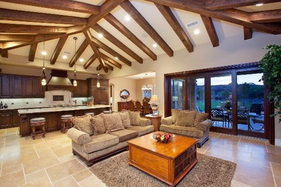 Интерьер деревянного дома внутри - используем экологичные материалы 5