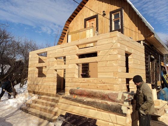 Пристрой к деревянному дому - все варианты пристроек 1