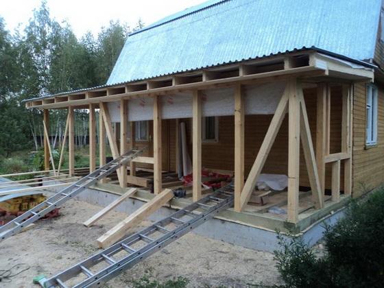 Пристрой к деревянному дому - все варианты пристроек 5