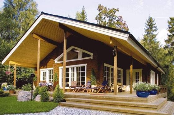 Интересные проекты деревянных домов из бревна 5