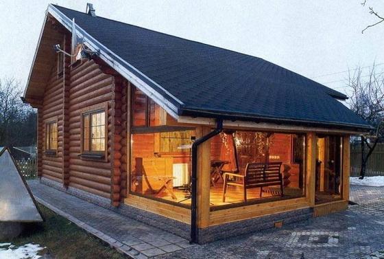 Интересные проекты деревянных домов из бруса 2