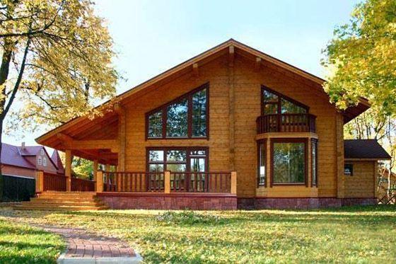 Интересные проекты деревянных домов из бруса 3
