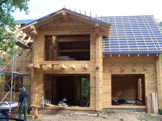 Интересные проекты деревянных домов из бруса 5