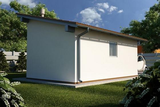 Выбираем проекты деревянных одноэтажных домов с односкатной и двухскатной крышей 3