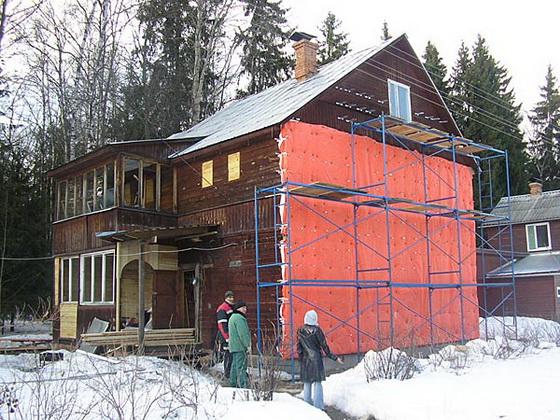 Как утеплить деревянный дом снаружи - пошаговое руководство 2