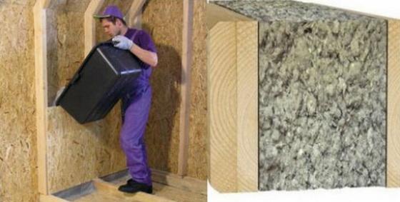 Натуральные утеплители для стен дома снаружи - керамзит и опилки 5