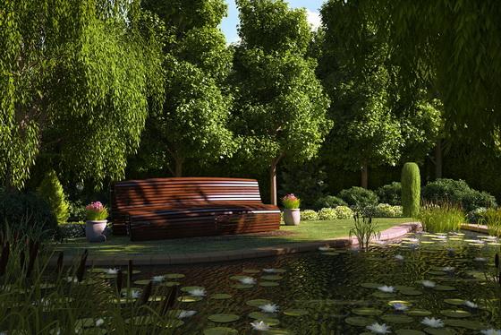 Дизайн участка загородного дома 15 соток - варианты с фото 2