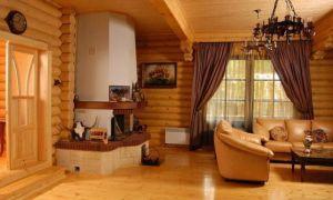 Интерьер деревянного дома внутри — используем экологичные материалы