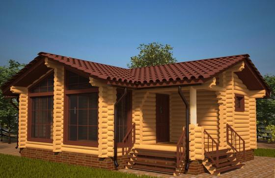 Деревянные одноэтажные дома – план деревянного дома из бруса в 1 этаж 3