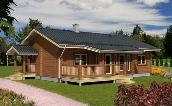 Деревянные одноэтажные дома – план деревянного дома из бруса в 1 этаж 5