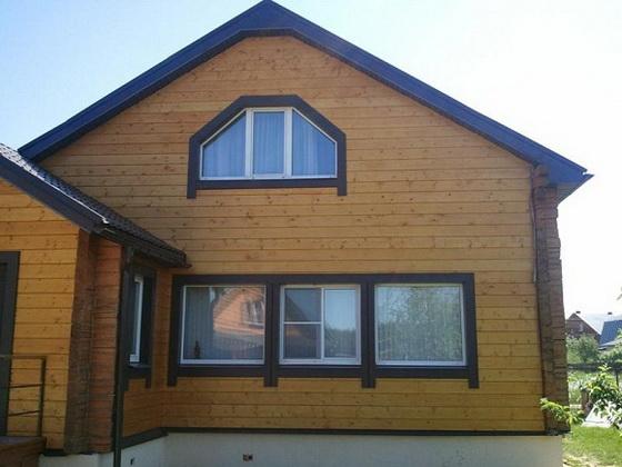 Размеры и характеристики имитации бруса для фасада частного дома 1