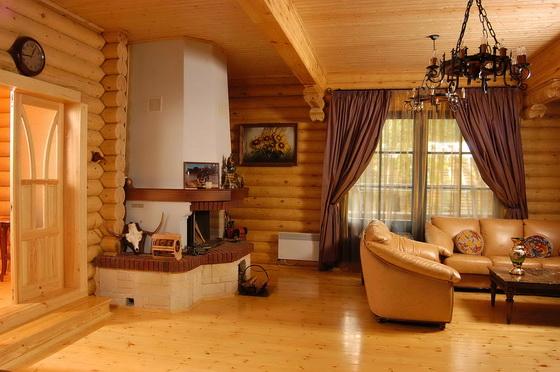 Отделка деревянного дома внутри - интерьеры деревянных домов 1