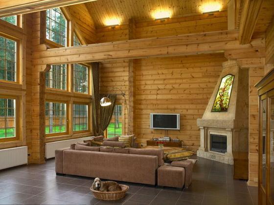 Отделка деревянного дома внутри - интерьеры деревянных домов 3