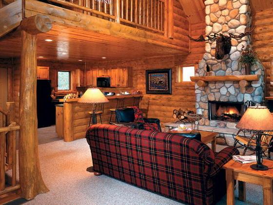 Отделка деревянного дома внутри - интерьеры деревянных домов 4