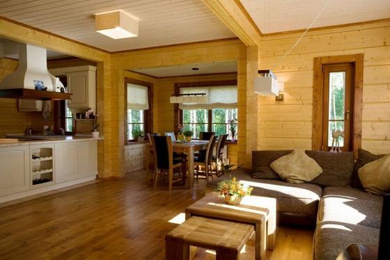 Отделка деревянного дома внутри - интерьеры деревянных домов 5