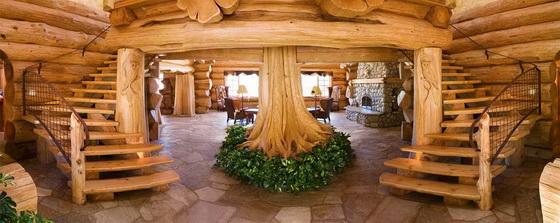 Интерьер деревянного дома внутри - используем экологичные материалы 2