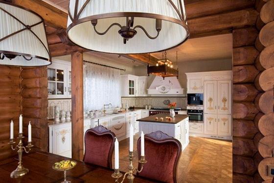 Интерьер деревянного дома внутри - используем экологичные материалы 3