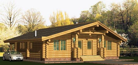 Деревянные дома - одноэтажные варианты и проекты домов 2