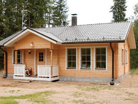Деревянные дома - одноэтажные варианты и проекты домов 5