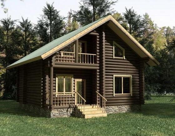Интересные проекты деревянных домов из бревна 1