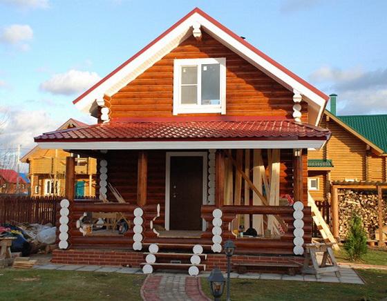 Интересные проекты деревянных домов из бревна 2