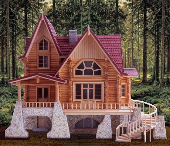Интересные проекты деревянных домов из бревна 3