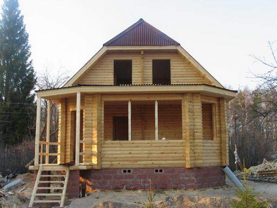 Интересные проекты деревянных домов из бруса 1