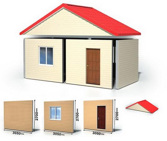 Экологичные проекты частных домов из сэндвич панелей 3