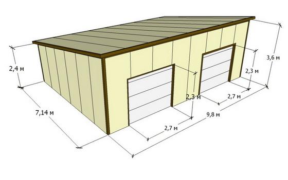 Пошаговое руководство строительства гаража из сэндвич панелей - от А до Я 2