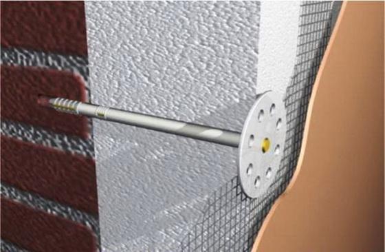 Что такое тарельчатый дюбель для крепления утеплителя на стены 3