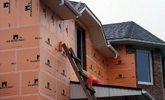 Утепление наружных стен кирпичного дома пеноплексом и пенопластом - отзывы строителей 4