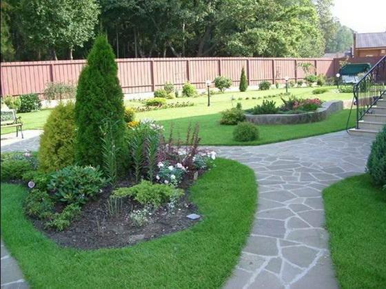Дизайн участка загородного дома 15 соток - варианты с фото 1