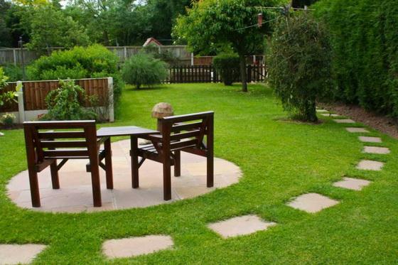 Дизайн участка загородного дома 15 соток - варианты с фото 3