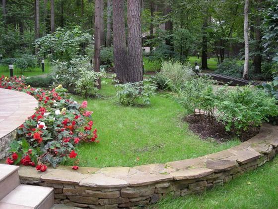 Дизайн участка загородного дома 15 соток - варианты с фото 4